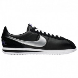 Nike Cortez Black Silver Nike Cortez - Men's Black/Metallic Silver/White | Leather / LA