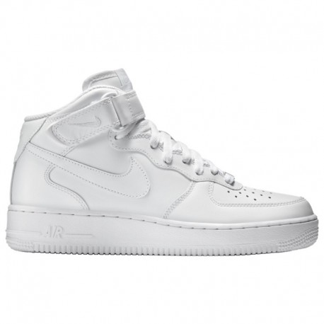 White Nike Air Force MID Tops Nike Air Force 1 Mid - Men's White/White