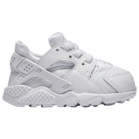 Nike Huarache Run GS White White Pure Platinum Nike Huarache Run - Boys' Toddler White/Pure Platinum/White
