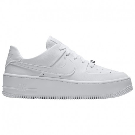 White Nike Air Force Sage Low Nike Air Force 1 Sage Low - Women's White/White/White