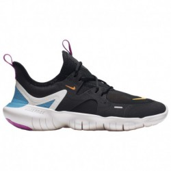 Nike Free Run Boys Grade School Nike Free Run 5.0 - Boys' Grade School Black/Laser Orange/Blue Hero