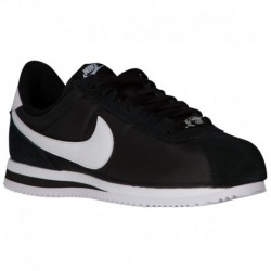Nike Cortez Nylon White Nike Cortez - Men's Black/White/Metallic Silver | Nylon