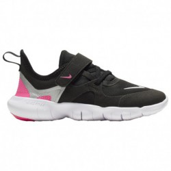 Nike Free Run Black Anthracite Nike Free Run 5.0 - Girls' Preschool Black/Met Silver/Hyper Pink/Anthracite