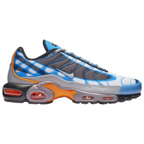 Nike Air Max Plus Orange And Blue Nike Air Max Plus - Men's White/Blue/Black/Orange