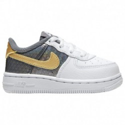 Nike Air Force 1 Low Lv8 Anthracite Nike Air Force 1 Low - Girls' Toddler White/Metallic Gold/anthracite   LV8