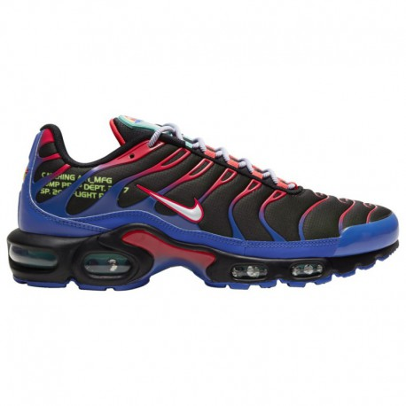 Nike Air Max 90 Essential Black Hyper Crimson Nike Air Max Plus - Men's Black/White/Laser Crimson/Hyper Royal