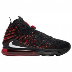 Men's Nike Lebron James Shoes Nike LeBron 17 - Men's James, Lebron | Black/White/University Red