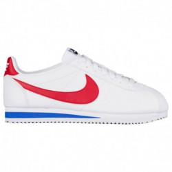 Nike Classic Cortez Leather Black White Red Nike Classic Cortez - Women's White/Varsity Red/Varsity Royal | Leather
