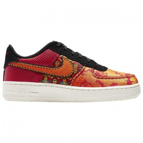 Wheat Nike Air Force 1 Grade School Nike Air Force 1 Low - Boys' Grade School Red/Orange/Gold