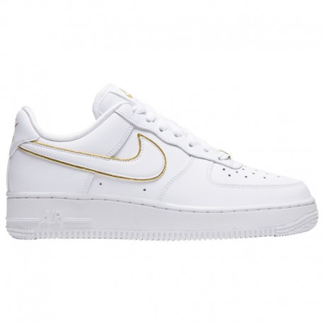 Nike Air Force 1 07 Essential White Gold Nike Air Force 1 '07 Low - Women's White/White/Metallic Gold | Essential / Glam Dunk P