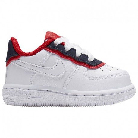Nike Air Force 1 Low Obsidian Nike Air Force 1 Low - Boys' Toddler White/Obsidian/Red