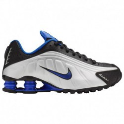 Nike Shox Blue And Silver Nike Shox R4 - Boys' Grade School Black/Racer Blue/Met Silver/Reflect Silver