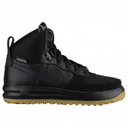 Nike Lunar Force 1 Duckboot Black Metallic Silver Anthracite Nike Lunar Force 1 Duckboots - Boys' Grade School Black/Black/Meta